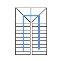 Каркас с 4 забежными  ступенями, разворот на 180°